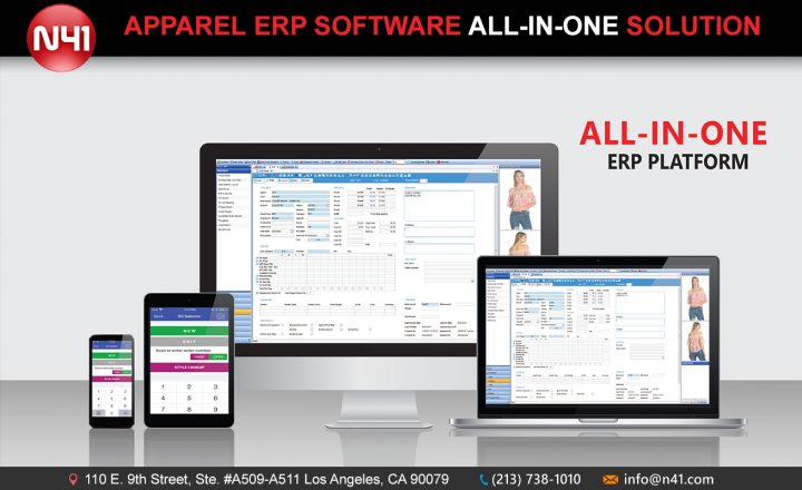 N41 is an all-in-one system which includes ERP, Tradeshow, Mobile App, E-commerce website, Showroom, EDI, PLM integration and much more.